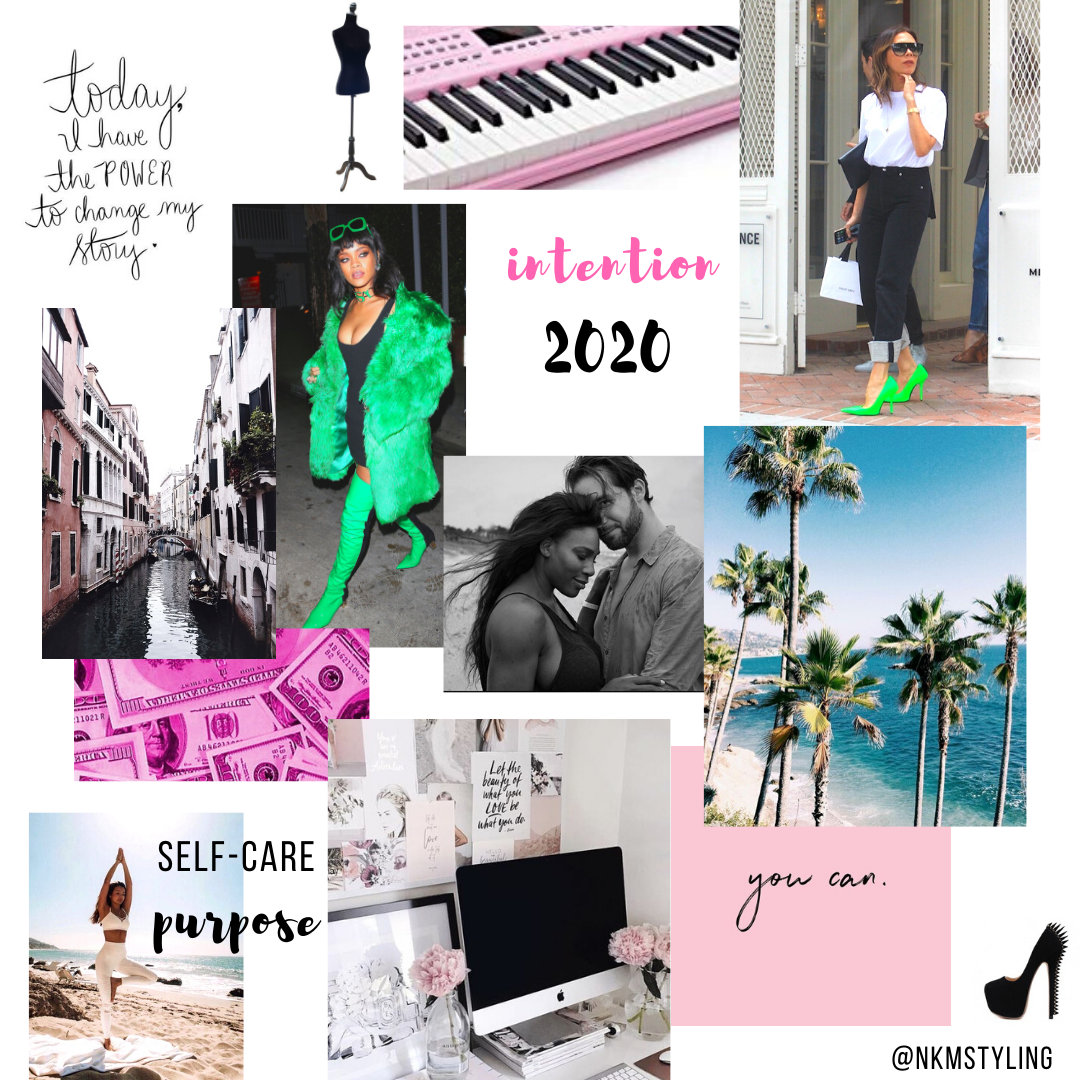 My Digital 2020 Vision Board & This Year's Theme: Intention